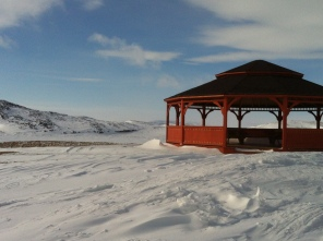 Gazebo in Cape Dorset